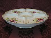 Antique Noritake China Divided And Footed Relish Tray - Very Nice