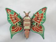 Vintage / Antique Tin Toy Moth Or Butterfly Flapping Wings Japan Or Germany