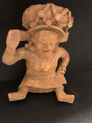 Pre Columbian Mayan Authentic 1000+ Year Old Large 10. Tall Effigy Figure