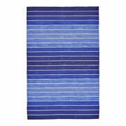 Feizy Santino 8' X 11' Handmade Serape Wool Area Rug In Ombre Royal Blue