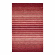Feizy Santino 8' X 11' Handmade Serape Wool Area Rug In Ombre Red