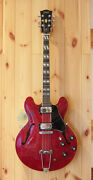 Greco Sa-700 Cherry Made In Japan 1975 Vintage Hollow Electric Guitar L1197