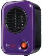 Personal Heater Home Office Desktop Warm Air Purple Space Heat Compact Portable