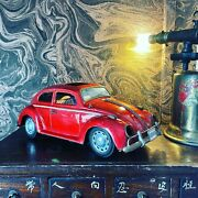 Vintage Japanese Tin Toy Volkswagen Beetle. Battery Toy