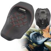 Motorcycle Seat Leather Rider Driver Seat For Harley Cvo Street Glide Road King