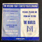 Promo Sleeve The Record That Started Beatlemania Please Please Me/ From Me