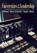 Universities And Their Leadership, Hardcover By Bowen, William G. Edt Shap...