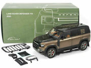 2020 Land Rover Defender 110 Roof Rack Brown 1/18 Diecast Car Almost Real 810803