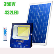 Waterproof 432led 350w Solar Panel Light With 5meter Cable Outdoor Solar Light