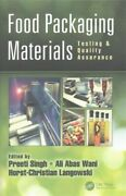 Food Packaging Materials Testing And Quality Assurance, Hardcover By Singh, P...