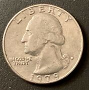 1979 Washington Quarter Filled D Mint Mark And Filled In A In America Error