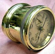 Brass Angle Mount Automobile Clock Model T Ford Buick Cadillac Maxwell Reo