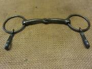 Vintage Iron Military Watering Bit W Brass Snaps Antique Harness Bridle 10224
