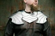 Medieval Pair Of Pauldron And Metal Gorget Handcrafted Collectable Metal Product