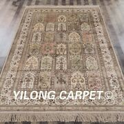 Yilong 6and039x9and039 Handknotted Silk Rug Four Season Home Decor Luxury Carpet L48b