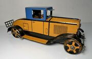 Vintage Marx Tin Litho Cadillac Coupe Car W/ Driver Wind Up Toy 11.25