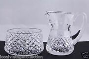 Waterford Crystal Alana Creamer And Open Sugar Bowl Set - Mint