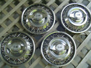 Four 13 Inch Vintage Chevrolet Corvair Wire Spinners Hubcaps Wheel Covers Chevy