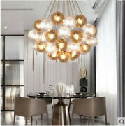 19/37 Balls Led Nordic Ceiling Lights Dining Room Glass Pendant Chandeliers Lamp