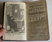 Letters Writ By A Turkish Spy By Giovanni Paolo Marana Paris 1691 8 Volumes