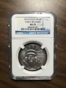 2014 Eagle Platinum 100 Early Releases Ms70 Ngc
