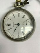 1903 Waltham Model 1883 15j Pocket Watch With Sterling Silver Train Case Working