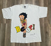 Rare Vintage Betty Boop Rap Tee Hip Hop Boop There It Is 90s X-large T-shirt Xl