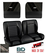 Sport R 55 Bench Seat And Flat Door Panel Kit For 1955-1959 Chevy Trucks - Tmi