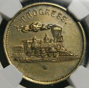 1885 Louisville Ky Howe Machine Co Southern Expo Token Ngc Ms61 Locomotive