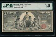Ac Fr 247 1896 2 Silver Certificate Educational Pmg 20