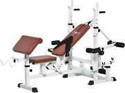 Multi-exercise Full-body Weight Rack With Bench Press, Leg Extension, Chest Fly