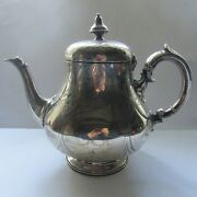 Antique Victorian Solid Silver Teapot 1858 Junior And William Barnard 723g