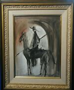 Ozz Franca Untitled Oil Painting 23 X 18