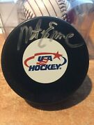 Mike Eruzione 1980 Usa Olympic Hockey Miracle On Ice Autographed Puck 3