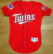 1997 Limit Dairy Queen Red Twins Alternate Uniform Russell Jersey Mlb