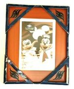Disney Parks Mickey Mouse Icon Silhouette 5x7 Picture Frame Photo Cherry Wood