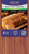 Jaccard Premium Cedar Plank Small 50 Planks Grilling Accessories Andndash Wood Plank...