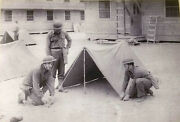 Wwii Us 1942 Half Tents.still In Very Good Condition.several Historical Brands