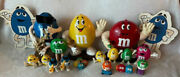 Vintage M And M Collector Candy Dispenser Lot Of 18