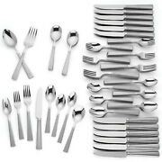 Lenox 110 Piece Flatware Set Service For 12 Babson Stainless 18/10 Modern New
