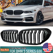Shiny Black Front Kidney Grille Grill For Bmw G30 G31 5-series 530i 540i 2017-18