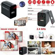 Spy Camera Charger Wifi 4k Hd Mini Wireless Hidden Smallest Security Cam Motion