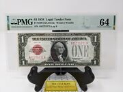 1 1928 Legal Tender Note Red Seal. Pmg 64 Choice Uncirculated. Fr1500