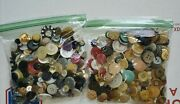 Lot Of Vintage And Antique Sewing Buttons All Different Materials