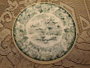 Antique C.1900 Wedgwood Teal Willow Y4767 Teapot Tile / Trivit / Stand