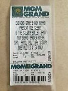 Ticket Stub - Bob Seger And The Silver Bullet Band Mgm Arena Garden 1996 - K 297
