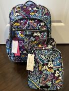 Vera Bradley Disney Mickey's Paisley Celebration Campus Backpack And Lunch Bunch