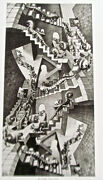 M C. Escher House Of Stairs Poster Reprint Incredible Surrealism 14x11