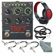 Digitech Trio + Band Creator And Built-in Looper And Accessory Bundle W / Closed