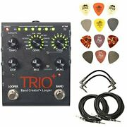 Digitech Trioplus Band Creator And Looper Bundle With 2 Patch Cables 2 Instrumen